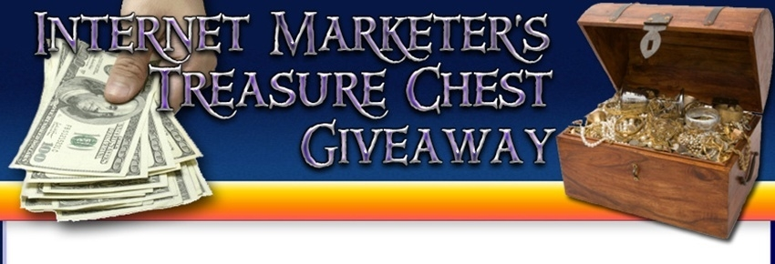 Internet Marketer's Treasure Chest Give Away header